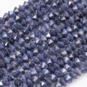 Shop Sapphire Faceted Beads! Genuine Natural Sapphire Loose Beads Grade AAA Faceted Rondelle Shape 3x2mm | Natural genuine faceted Sapphire beads for beading and jewelry making.  #jewelry #beads #beadedjewelry #diyjewelry #jewelrymaking #beadstore #beading #affiliate #ad