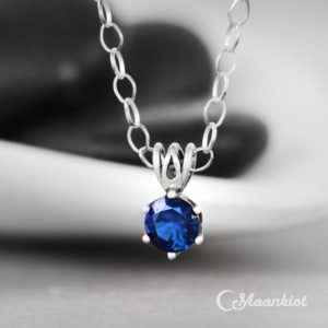 Shop Sapphire Pendants! Silver Blue Sapphire Pendant Necklace, Sterling Silver Sapphire Necklace, September Birthstone | Moonkist Designs | Natural genuine Sapphire pendants. Buy crystal jewelry, handmade handcrafted artisan jewelry for women.  Unique handmade gift ideas. #jewelry #beadedpendants #beadedjewelry #gift #shopping #handmadejewelry #fashion #style #product #pendants #affiliate #ad