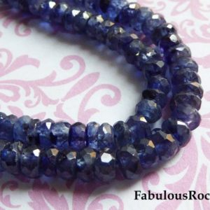 Shop Sapphire Rondelle Beads! 5-50 pcs / Blue SAPPHIRE Beads Gemstone Rondelles Roundel / 4-4.5 mm, Luxe AAA / non dyed heat treated september birthstone tr s nd 45 | Natural genuine rondelle Sapphire beads for beading and jewelry making.  #jewelry #beads #beadedjewelry #diyjewelry #jewelrymaking #beadstore #beading #affiliate #ad