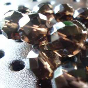 Smoky Quartz Beads 8mm Faceted Chocolate Brown Rounds – 6 Pieces | Natural genuine beads Gemstone beads for beading and jewelry making.  #jewelry #beads #beadedjewelry #diyjewelry #jewelrymaking #beadstore #beading #affiliate #ad