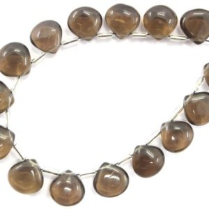 Shop Smoky Quartz Bead Shapes! 15 Pieces Natural Smoky Quartz Heart Shape Briolette Beads,Size 9-10 MM Smoky Quartz Gemstone, Best Quality Smoky Quartz Smooth Heart Beads | Natural genuine other-shape Smoky Quartz beads for beading and jewelry making.  #jewelry #beads #beadedjewelry #diyjewelry #jewelrymaking #beadstore #beading #affiliate #ad