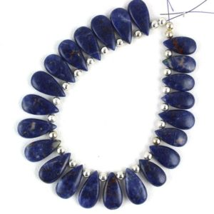 Shop Sodalite Bead Shapes! Christmas Sale Best Quality 1 Strand Natural Sodalite Pear Shape Smooth 8×15-9x18mm Approx, sodalite Beads, pear Sodalite Beads, wholesale | Natural genuine other-shape Sodalite beads for beading and jewelry making.  #jewelry #beads #beadedjewelry #diyjewelry #jewelrymaking #beadstore #beading #affiliate #ad