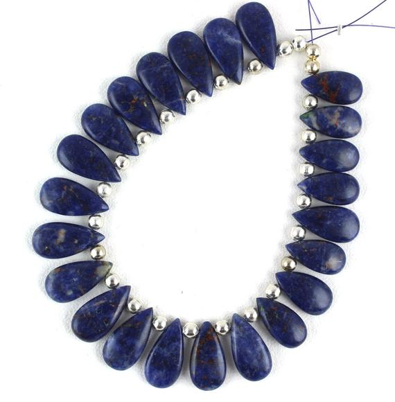 Christmas Sale Best Quality 1 Strand Natural Sodalite Pear Shape Smooth 8x15-9x18mm Approx,sodalite Beads,pear Sodalite Beads,wholesale