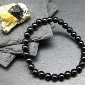 Shop Spinel Bracelets! Black Spinel Genuine Bracelet ~ 7 Inches ~ 6mm Round Beads | Natural genuine Spinel bracelets. Buy crystal jewelry, handmade handcrafted artisan jewelry for women.  Unique handmade gift ideas. #jewelry #beadedbracelets #beadedjewelry #gift #shopping #handmadejewelry #fashion #style #product #bracelets #affiliate #ad