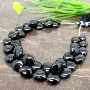 Shop Spinel Bead Shapes! Natural Black Spinel 9-13mm Smooth Heart Briolette Beads / Approx 39 pieces on 9 Inch long strand / JBC-ET-148808 | Natural genuine other-shape Spinel beads for beading and jewelry making.  #jewelry #beads #beadedjewelry #diyjewelry #jewelrymaking #beadstore #beading #affiliate #ad