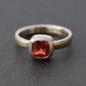 18K White Gold Oregon Sunstone Ring – Square Sunstone Gold Ring – Ring Size 7.5 | Natural genuine Sunstone rings, simple unique handcrafted gemstone rings. #rings #jewelry #shopping #gift #handmade #fashion #style #affiliate #ad