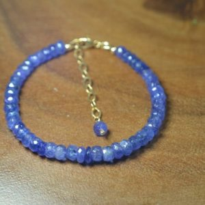 Shop Tanzanite Bracelets! Genuine Tanzanite Statement Bracelet In 14k Gold Fill / / Deep Blue, Violet Tanzanite / / December Birthstone / / 8th, 24th Anniversary For Her | Natural genuine Tanzanite bracelets. Buy crystal jewelry, handmade handcrafted artisan jewelry for women.  Unique handmade gift ideas. #jewelry #beadedbracelets #beadedjewelry #gift #shopping #handmadejewelry #fashion #style #product #bracelets #affiliate #ad