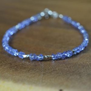 Shop Tanzanite Bracelets! Tanzanite Stacking Bead Bracelet In Silver, 14k Gold / / December Birthstone Jewelry / / 8th, 24th Anniversary Gift For Her / / Bracelet Set | Natural genuine Tanzanite bracelets. Buy crystal jewelry, handmade handcrafted artisan jewelry for women.  Unique handmade gift ideas. #jewelry #beadedbracelets #beadedjewelry #gift #shopping #handmadejewelry #fashion #style #product #bracelets #affiliate #ad