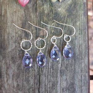 Shop Tanzanite Earrings! Dainty Tanzanite earrings. Available in sterling silver or gold filled | Natural genuine Tanzanite earrings. Buy crystal jewelry, handmade handcrafted artisan jewelry for women.  Unique handmade gift ideas. #jewelry #beadedearrings #beadedjewelry #gift #shopping #handmadejewelry #fashion #style #product #earrings #affiliate #ad