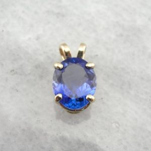 Shop Tanzanite Pendants! Large Tanzanite Solitaire Pendant in Fine Gold, Gorgeous Purple and Cobalt Tones PKAQPM-D | Natural genuine Tanzanite pendants. Buy crystal jewelry, handmade handcrafted artisan jewelry for women.  Unique handmade gift ideas. #jewelry #beadedpendants #beadedjewelry #gift #shopping #handmadejewelry #fashion #style #product #pendants #affiliate #ad
