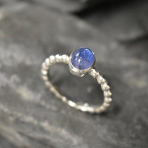 Shop Tanzanite Rings! Tanzanite Ring, Natural Tanzanite, December Birthstone, Blue Dainty Ring, Blue VintageRing, Unique Stone Ring, Blue Ring, Solid Silver Ring | Natural genuine Tanzanite rings, simple unique handcrafted gemstone rings. #rings #jewelry #shopping #gift #handmade #fashion #style #affiliate #ad