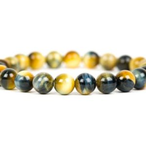Honey Blue Tigers Eye Bracelet, Stacking Gemstone Healing Bracelet, 8mm Tiger's Eye Natural Gemstone Jewelry | Natural genuine Tiger Eye bracelets. Buy crystal jewelry, handmade handcrafted artisan jewelry for women.  Unique handmade gift ideas. #jewelry #beadedbracelets #beadedjewelry #gift #shopping #handmadejewelry #fashion #style #product #bracelets #affiliate #ad