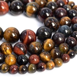 Genuine Natural Yellow Red Blue Tiger Eye Loose Beads Grade AA Round Shape 6mm 8mm 10mm 12mm | Natural genuine round Tiger Eye beads for beading and jewelry making.  #jewelry #beads #beadedjewelry #diyjewelry #jewelrymaking #beadstore #beading #affiliate #ad