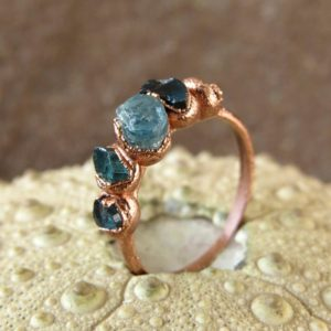 Shop Tourmaline Rings! Tourmaline birthstone ring blue tourmaline ring october birthday ring dainty gift ring | Natural genuine Tourmaline rings, simple unique handcrafted gemstone rings. #rings #jewelry #shopping #gift #handmade #fashion #style #affiliate #ad