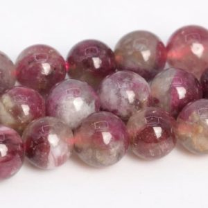 "Shop Tourmaline Round Beads! 5MM Purple Red Tourmaline Beads Grade A+ Genuine Natural Gemstone Round Loose Beads 15.5""/7.5"" Bulk Lot Options (108643) 