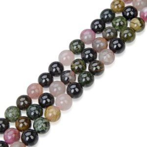Shop Tourmaline Round Beads! U Pick Natural Multi Colors Tourmaline Gemstone 4mm 6mm 8mm 10mm Round Gems Stone Beads 15 Inch Per Strand For Jewelry Craft Making Gy35 | Natural genuine round Tourmaline beads for beading and jewelry making.  #jewelry #beads #beadedjewelry #diyjewelry #jewelrymaking #beadstore #beading #affiliate #ad