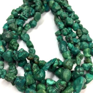 """Shop Turquoise Chip & Nugget Beads! Natural Turquoise Smooth Plain Nuggets Beads Turquoise Nuggets Unusual Shape Beads Turquoise Gemstone Beads 15"""" Strand 
