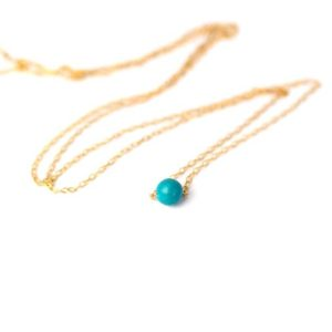 Shop Turquoise Necklaces! Turquoise necklace – dot necklace – simple necklace – minimalist – everyday necklace – a tiny turquoise bead on a 14k gold vermeil chain | Natural genuine Turquoise necklaces. Buy crystal jewelry, handmade handcrafted artisan jewelry for women.  Unique handmade gift ideas. #jewelry #beadednecklaces #beadedjewelry #gift #shopping #handmadejewelry #fashion #style #product #necklaces #affiliate #ad