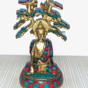 Shop Turquoise Stones & Crystals! Cyber Monday Sale Peaceful Meditating Buddha Under Bodhi Tree Brass Statue with Red Blue Turquoise work – Exclusive | Natural genuine stones & crystals in various shapes & sizes. Buy raw cut, tumbled, or polished gemstones for making jewelry or crystal healing energy vibration raising reiki stones. #crystals #gemstones #crystalhealing #crystalsandgemstones #energyhealing #affiliate #ad
