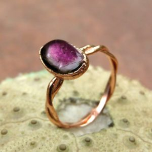 Shop Watermelon Tourmaline Rings! Tourmaline birthstone ring tourmaline ring october birthday ring dainty gift ring | Natural genuine Watermelon Tourmaline rings, simple unique handcrafted gemstone rings. #rings #jewelry #shopping #gift #handmade #fashion #style #affiliate #ad