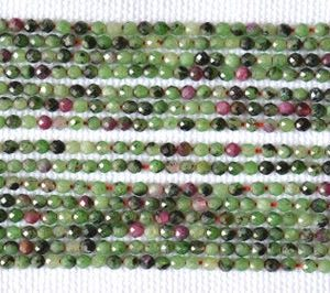 "Shop Ruby Zoisite Rondelle Beads! Wholesale 5 Strand, Ruby Zoisite Faceted Rondelle, Gemstone Beads, 2.4mm Zoisite Faceted Beads, Center Drilled Beads, 13"" Strand #GNPP0138 