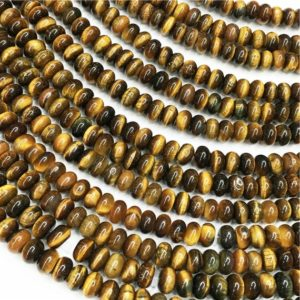 Shop Tiger Eye Rondelle Beads! Yellow Tiger Eye Rondelle Beads,Gemstone Loose Beads 6mm 8mm | Natural genuine rondelle Tiger Eye beads for beading and jewelry making.  #jewelry #beads #beadedjewelry #diyjewelry #jewelrymaking #beadstore #beading #affiliate #ad