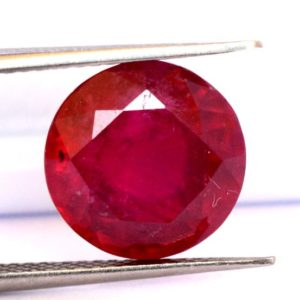 Shop Ruby Shapes! 11×11 mm Natural Ruby Round Cut 7.29 CTS Deep Red Shade Loose Gemstone GF | Natural genuine stones & crystals in various shapes & sizes. Buy raw cut, tumbled, or polished gemstones for making jewelry or crystal healing energy vibration raising reiki stones. #crystals #gemstones #crystalhealing #crystalsandgemstones #energyhealing #affiliate #ad