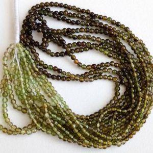Shop Green Tourmaline Beads! 13 Inch Green Shaded Tourmaline Beads, Rare 2.5mm Natural Green Tourmaline Plain Round Balls, Shaded Green Tourmaline Necklace – PUSDG16 | Natural genuine round Green Tourmaline beads for beading and jewelry making.  #jewelry #beads #beadedjewelry #diyjewelry #jewelrymaking #beadstore #beading #affiliate #ad