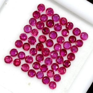 Shop Ruby Shapes! 2.25 mm Natural Ruby Round Cut Lot 45 Pcs 2.45 Cts Lustrous Red Pink Loose Gemstones | Natural genuine stones & crystals in various shapes & sizes. Buy raw cut, tumbled, or polished gemstones for making jewelry or crystal healing energy vibration raising reiki stones. #crystals #gemstones #crystalhealing #crystalsandgemstones #energyhealing #affiliate #ad