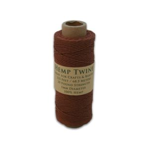 Shop Hemp Twine! 225 Feet of 100% All-Natural 1MM Hemp Twine – Brown | Shop jewelry making and beading supplies, tools & findings for DIY jewelry making and crafts. #jewelrymaking #diyjewelry #jewelrycrafts #jewelrysupplies #beading #affiliate #ad