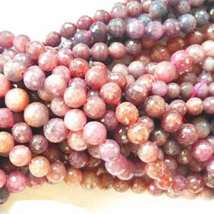 Shop Ruby Round Beads! 4-8mm Natural Gorgeous Ruby gemstone,red longido round ball faceted Loose beads strand for necklace bracelet,semi-precious | Natural genuine round Ruby beads for beading and jewelry making.  #jewelry #beads #beadedjewelry #diyjewelry #jewelrymaking #beadstore #beading #affiliate #ad