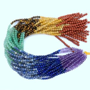 Shop Chakra Beads! 7 Chakra Beads 4mm Smooth Full String, Tiny 7 Chakra Gemstone Beads, Set Chakra Beads, Chakra Jewelry Supplies,Healing Yoga Meditation Beads | Shop jewelry making and beading supplies, tools & findings for DIY jewelry making and crafts. #jewelrymaking #diyjewelry #jewelrycrafts #jewelrysupplies #beading #affiliate #ad