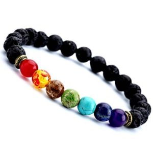 Shop Crystal Healing! 7 Chakra bracelet, Chakra jewelry, Yoga bracelet, Boho bracelet, Gemstone therapy, Lava stone bracelet, Energy bracelet, Lava rock bracelet | Shop jewelry making and beading supplies, tools & findings for DIY jewelry making and crafts. #jewelrymaking #diyjewelry #jewelrycrafts #jewelrysupplies #beading #affiliate #ad