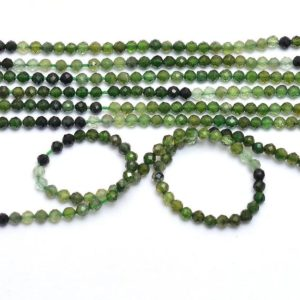 "Shop Green Tourmaline Beads! AAA+ Green Tourmaline Gemstone 2.5mm Faceted Beads | 13"" Strand 