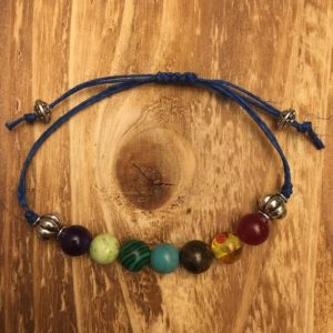 Shop Chakra Bracelets! Adjustable Seven Chakra bracelet | Shop jewelry making and beading supplies, tools & findings for DIY jewelry making and crafts. #jewelrymaking #diyjewelry #jewelrycrafts #jewelrysupplies #beading #affiliate #ad