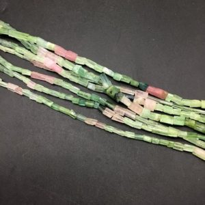 Shop Green Tourmaline Beads! Afghani Multi Tourmaline Faceted Tumble Natural 100 % Gemstone Necklace 16 '' Tourmaline Gemstone 1 Strand Sale | Natural genuine chip Green Tourmaline beads for beading and jewelry making.  #jewelry #beads #beadedjewelry #diyjewelry #jewelrymaking #beadstore #beading #affiliate #ad
