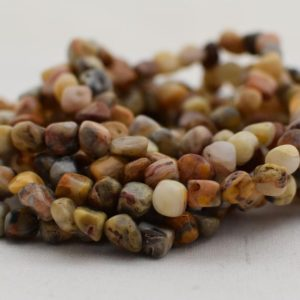 "Shop Crazy Lace Agate Beads! High Quality Grade A Natural Crazy Lace Agate Semi-Precious Gemstone Tumbled Stone Nugget Pebble Beads – approx 5mm – 8mm – 15.5"" strand 