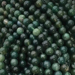 Green Moss Agate, 8mm Beads, Green Beads, Moss Agate Beads Gemstone Beads, Green Gemstone, Moss Agate, Agate Beads, 10mm Beads, 6mm Beads | Natural genuine other-shape Agate beads for beading and jewelry making.  #jewelry #beads #beadedjewelry #diyjewelry #jewelrymaking #beadstore #beading #affiliate #ad