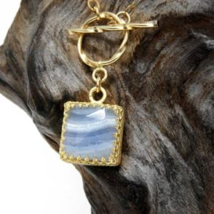 Shop Agate Pendants! Lace agate necklace,gold necklace for women,gold pendant necklace,square gemstone necklace,toggle clasp necklace,handmade necklace | Natural genuine Agate pendants. Buy crystal jewelry, handmade handcrafted artisan jewelry for women.  Unique handmade gift ideas. #jewelry #beadedpendants #beadedjewelry #gift #shopping #handmadejewelry #fashion #style #product #pendants #affiliate #ad