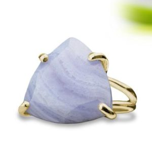 Shop Agate Rings! 14k Gold Agate Ring · Lace Agate Ring · Blue Agate Ring · Trillion Ring · Semiprecious Ring · 14K Gold Ring · Gemstone Ring | Natural genuine Agate rings, simple unique handcrafted gemstone rings. #rings #jewelry #shopping #gift #handmade #fashion #style #affiliate #ad