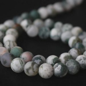Shop Agate Round Beads! Matte Green Tree Agate Beads Wholesale Supply,6mm/8mm/10mm/12mm Matte Round Beads,15 inches one starand | Natural genuine round Agate beads for beading and jewelry making.  #jewelry #beads #beadedjewelry #diyjewelry #jewelrymaking #beadstore #beading #affiliate #ad