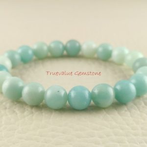 Shop Amazonite Bracelets! Amazonite Bracelet, Healing for Men & Women, Inspires Truth, Eloquence, Integrity, Prophecy, Psychic Vision, Gift for Men And Women 3280 | Natural genuine Amazonite bracelets. Buy handcrafted artisan men's jewelry, gifts for men.  Unique handmade mens fashion accessories. #jewelry #beadedbracelets #beadedjewelry #shopping #gift #handmadejewelry #bracelets #affiliate #ad