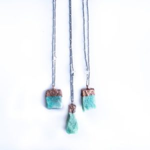 Shop Amazonite Necklaces! Amazonite Jewelry | Raw Amazonite Crystal Necklace | Rough Amazonite Crystal | Electroformed Necklace | Sterling Silver Jewelry | Natural genuine Amazonite necklaces. Buy crystal jewelry, handmade handcrafted artisan jewelry for women.  Unique handmade gift ideas. #jewelry #beadednecklaces #beadedjewelry #gift #shopping #handmadejewelry #fashion #style #product #necklaces #affiliate #ad