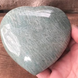 Shop Amazonite Shapes! Amazonite Heart 89mm – Crystals and Stones – Green Heart Chakra Stone – Crystal Grid – Meditation Space – Altar Decor – Amazonite Crystal | Natural genuine stones & crystals in various shapes & sizes. Buy raw cut, tumbled, or polished gemstones for making jewelry or crystal healing energy vibration raising reiki stones. #crystals #gemstones #crystalhealing #crystalsandgemstones #energyhealing #affiliate #ad