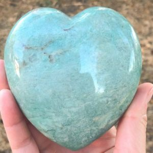 Shop Amazonite Shapes! Amazonite Heart 93mm – Crystals And Stones – Green Heart Chakra Stone – Crystal Grid – Meditation Space – Altar Decor – Amazonite Crysta | Natural genuine stones & crystals in various shapes & sizes. Buy raw cut, tumbled, or polished gemstones for making jewelry or crystal healing energy vibration raising reiki stones. #crystals #gemstones #crystalhealing #crystalsandgemstones #energyhealing #affiliate #ad
