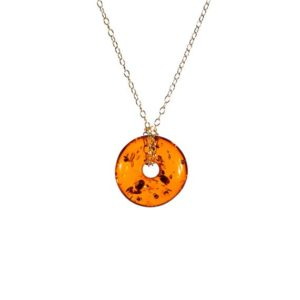 Shop Amber Pendants! Baltic amber necklace, amber lifesaver necklace, natural amber jewelry, circle necklace, healing pendant, fossil necklace, boho necklace | Natural genuine Amber pendants. Buy crystal jewelry, handmade handcrafted artisan jewelry for women.  Unique handmade gift ideas. #jewelry #beadedpendants #beadedjewelry #gift #shopping #handmadejewelry #fashion #style #product #pendants #affiliate #ad