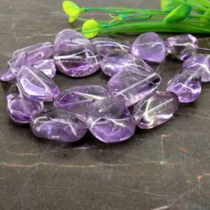 Natural Brazilian Amethyst 15-33mm Smooth Nuggets Briolette Beads / Approx 18 pieces on 16 Inch long strand / JBC-ET-153829 | Natural genuine other-shape Array beads for beading and jewelry making.  #jewelry #beads #beadedjewelry #diyjewelry #jewelrymaking #beadstore #beading #affiliate #ad