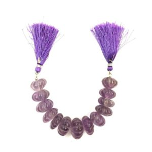 Shop Amethyst Rondelle Beads! Natural Stone Amethyst Pumpkin Shape Beads Carving Rondelle Beads 16-19 mm Gemstone Beads 13 Piece | Natural genuine rondelle Amethyst beads for beading and jewelry making.  #jewelry #beads #beadedjewelry #diyjewelry #jewelrymaking #beadstore #beading #affiliate #ad