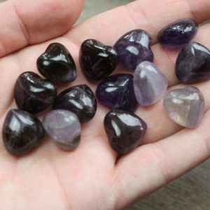 Amethyst Small Puffy Shaped Stone Heart K254 | Natural genuine stones & crystals in various shapes & sizes. Buy raw cut, tumbled, or polished gemstones for making jewelry or crystal healing energy vibration raising reiki stones. #crystals #gemstones #crystalhealing #crystalsandgemstones #energyhealing #affiliate #ad