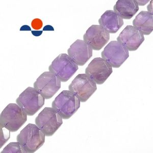 "Shop Ametrine Bead Shapes! Ametrine Rectangle Slice Faceted Octagon Beads Approx 15x20mm 15.5"" Strand 